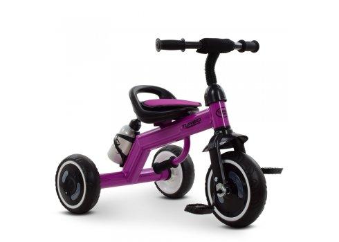 Трехколесный велосипед со светящимися EVA колесами Turbotrike M 3648-9 фиолетовый