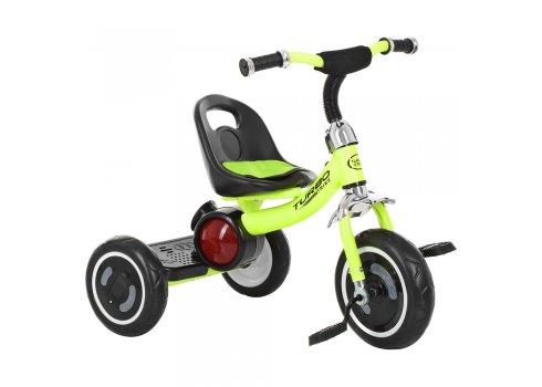 Велосипед трехколесный музыкальный с подсветкой Turbotrike M 3650-M-2 салатовый