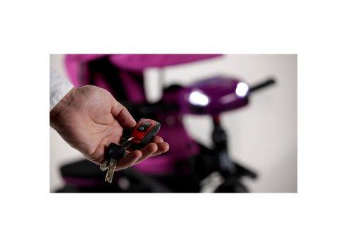 Велосипед трехколесный с игровой панелью и пультом, Tilly Cayman T-381/2 Черный лен