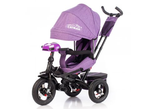 Велосипед трехколесный с игровой панелью и пультом, Tilly Cayman T-381/2 Фиолетовый лен