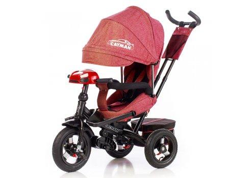 Велосипед трехколесный с игровой панелью и пультом, Tilly Cayman T-381/2 Красный лен