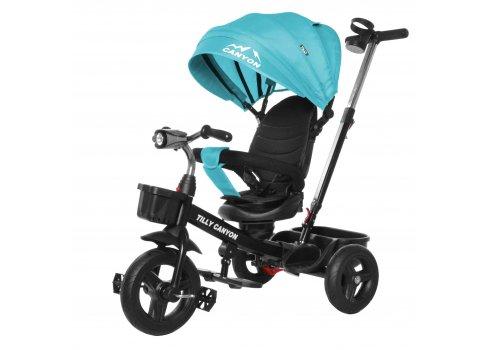 Велосипед трехколесный с поворотным сиденьем TILLY CANYON T-384 Бирюзовый