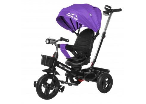 Велосипед трехколесный с поворотным сиденьем TILLY CANYON T-384 Фиолетовый