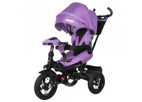 Велосипед трехколесный с пультом и усиленной рамой TILLY Impulse T-386/1 Фиолетовый лен