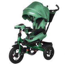Велосипед трехколесный с пультом и усиленной рамой TILLY Impulse T-386/1 Зеленый лен