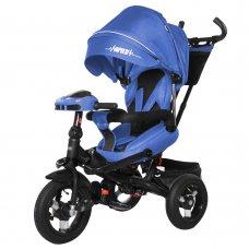 Велосипед трехколесный с пультом и усиленной рамой TILLY Impulse T-386/1 Синий лен
