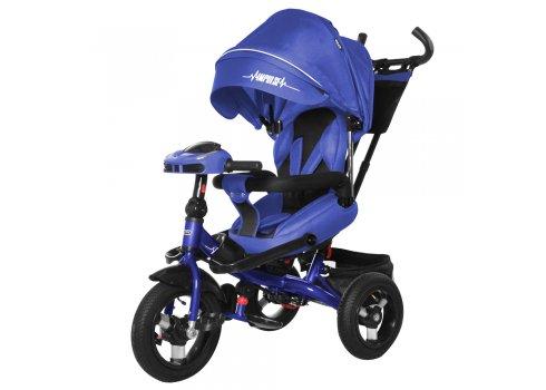 Велосипед трехколесный с пультом и усиленной рамой TILLY Impulse T-386/1 Темно-синий лен