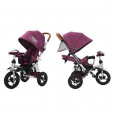 Трехколесный велосипед-коляска TILLY TRAVEL T-387 фиолетовый