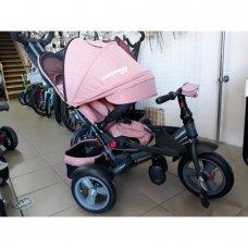 Трехколесный велосипед с поворотным сиденьем Crosser T400 NEO ECO AIR персиковый