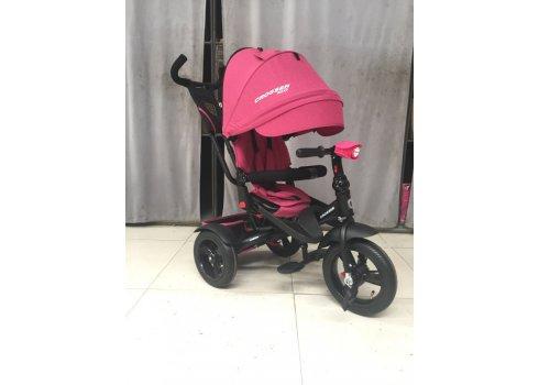 Трехколесный велосипед с поворотным сиденьем Crosser T400 NEO ECO AIR розовый