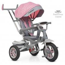 Трехколесный велосипед с поворотным сиденьем Turbotrike M 4058-15 нежно-розовый