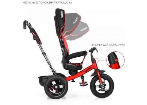 Трехколесный велосипед с поворотным сиденьем, Turbotrike M 4059-3 красный с черным