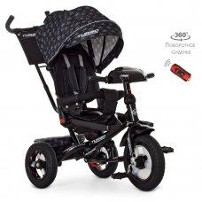 Трехколесный велосипед с фарой TURBOTRIKE M 4060HA-22V черный