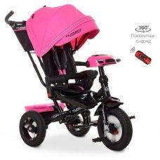 Трехколесный велосипед с фарой TURBOTRIKE M 4060HA-6 розовый