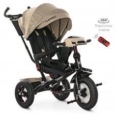 Трехколесный велосипед с фарой TURBOTRIKE M 4060HA-7L бежевый