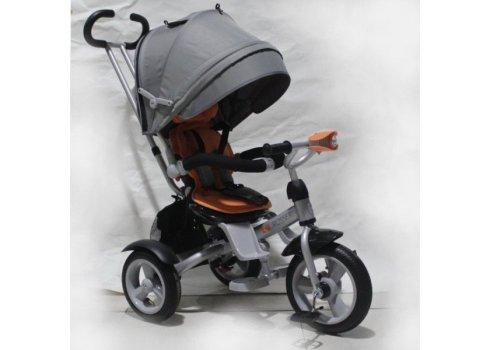 Трехколесный велосипед с фарой и поворотным сиденьем Azimut Crosser T503 AIR, оранжевый