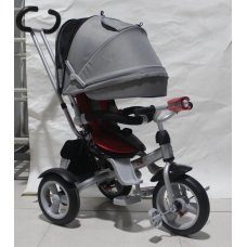 Трехколесный велосипед с фарой и поворотным сиденьем Azimut Crosser T503 AIR, красный