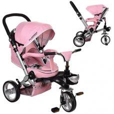 Трехколесный велосипед с регулируемой спинкой на EVA колесах, M AL3645-10 нежно-розовый